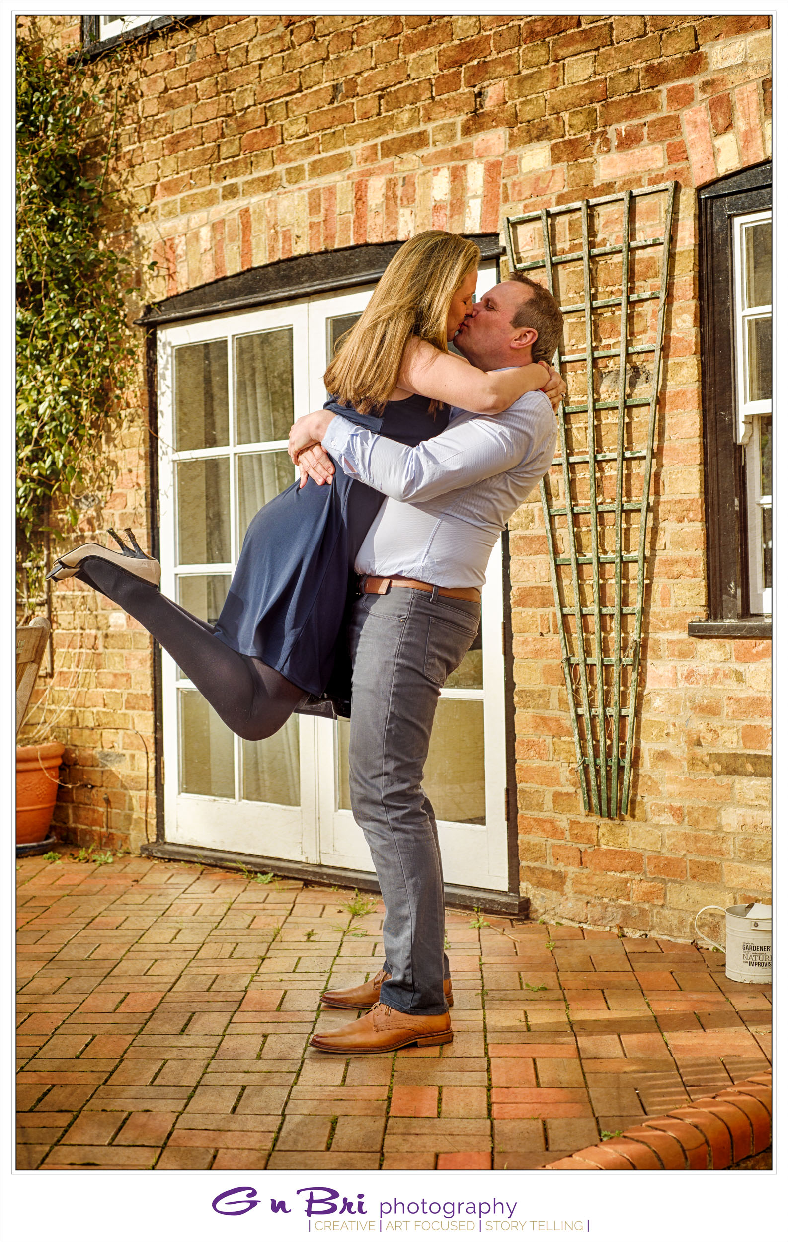 Keith and Anna celebrating their love in St Neots.