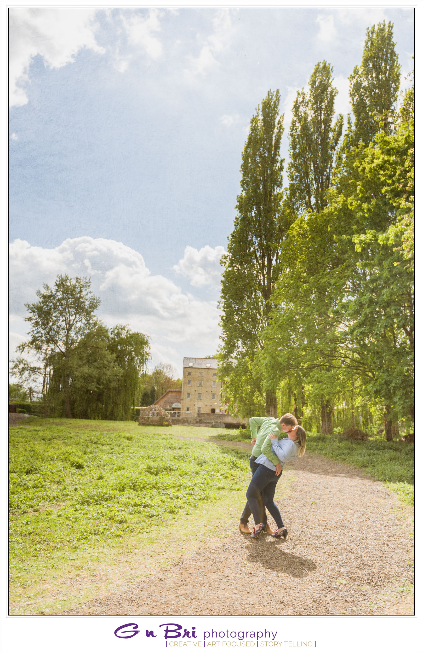 A lovely couple dance in front of Jordans Mill
