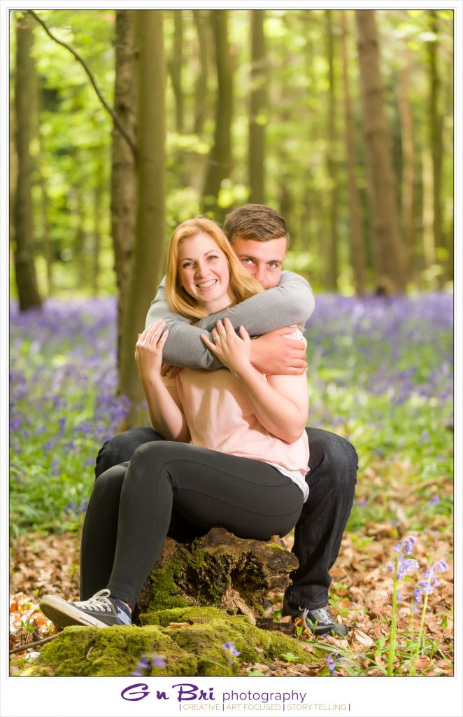 Engagement Session in Bluebells at Great Ashby