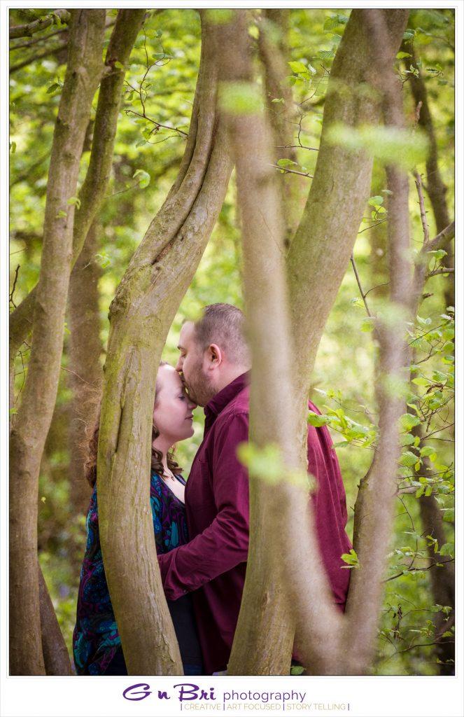 Pre-Wedding Woodland Kiss