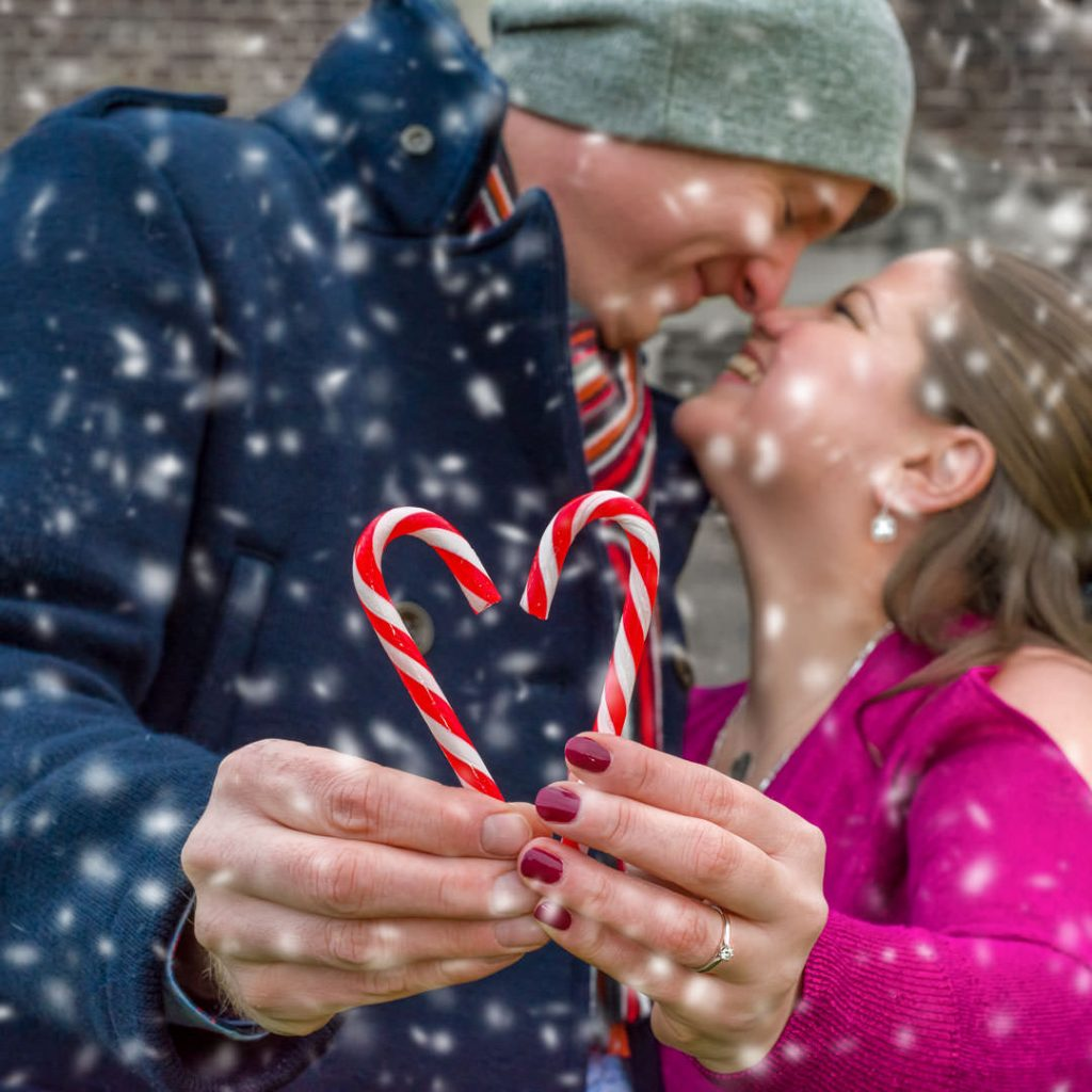 A Christmas pre-wedding session at Houghton House | GnBri Photography