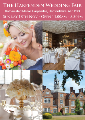 Harpenden Wedding Fair | Rothamsted Manor | November 18th