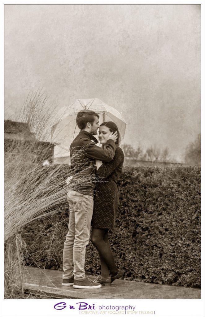 A loving pre-wedding shot.