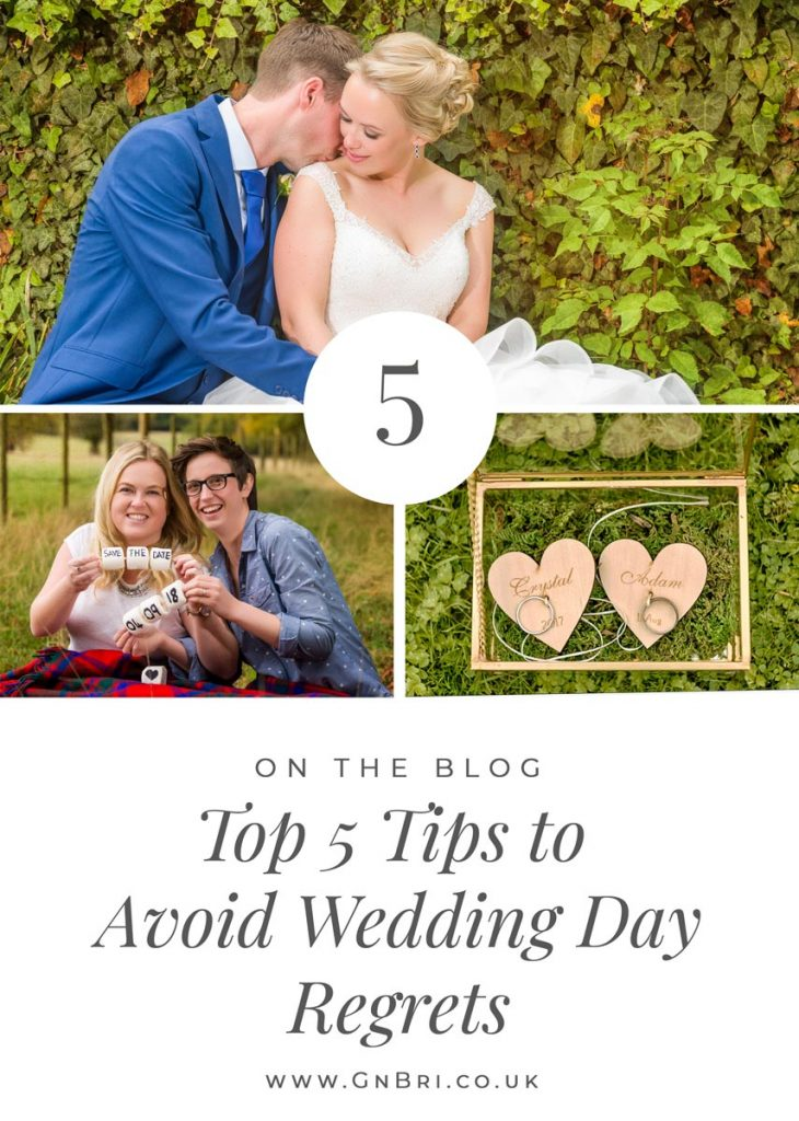 Avoid Wedding Day Regrets