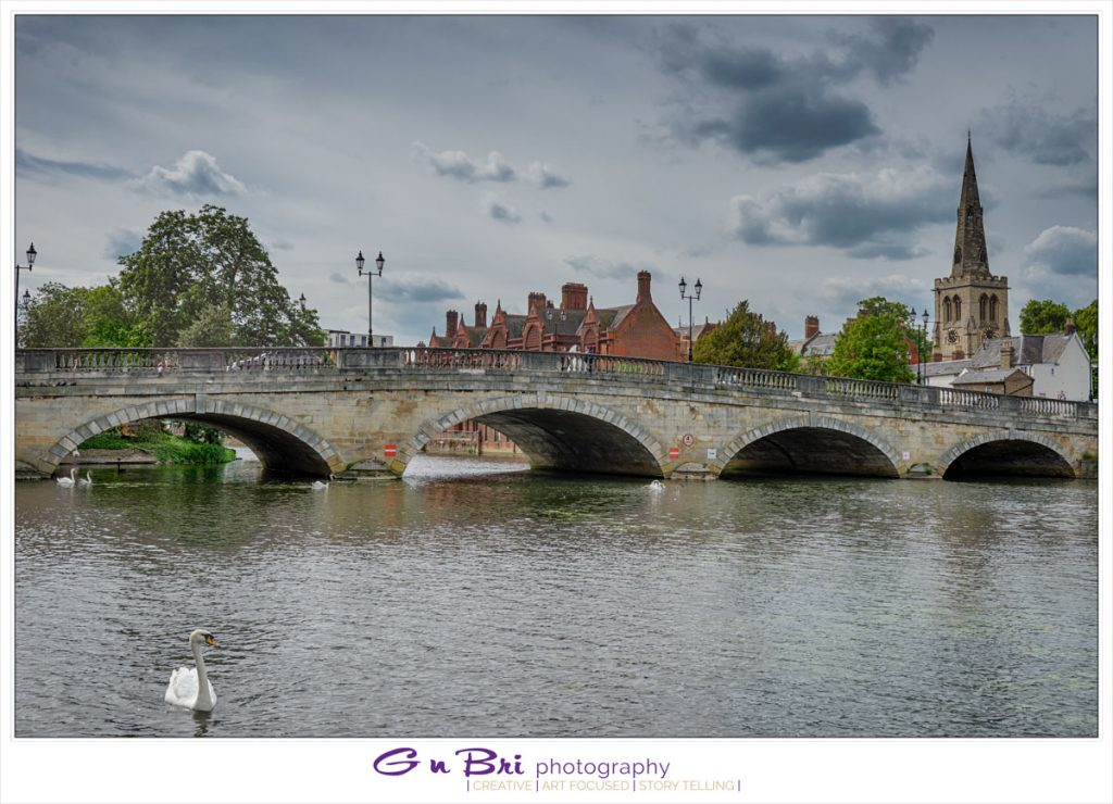Wedding Photo over the Ouse in Bedford