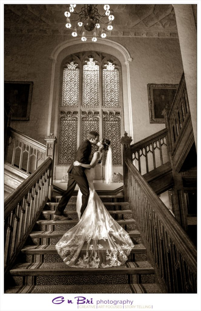 Romantic Kiss Latimer Estate Staircase